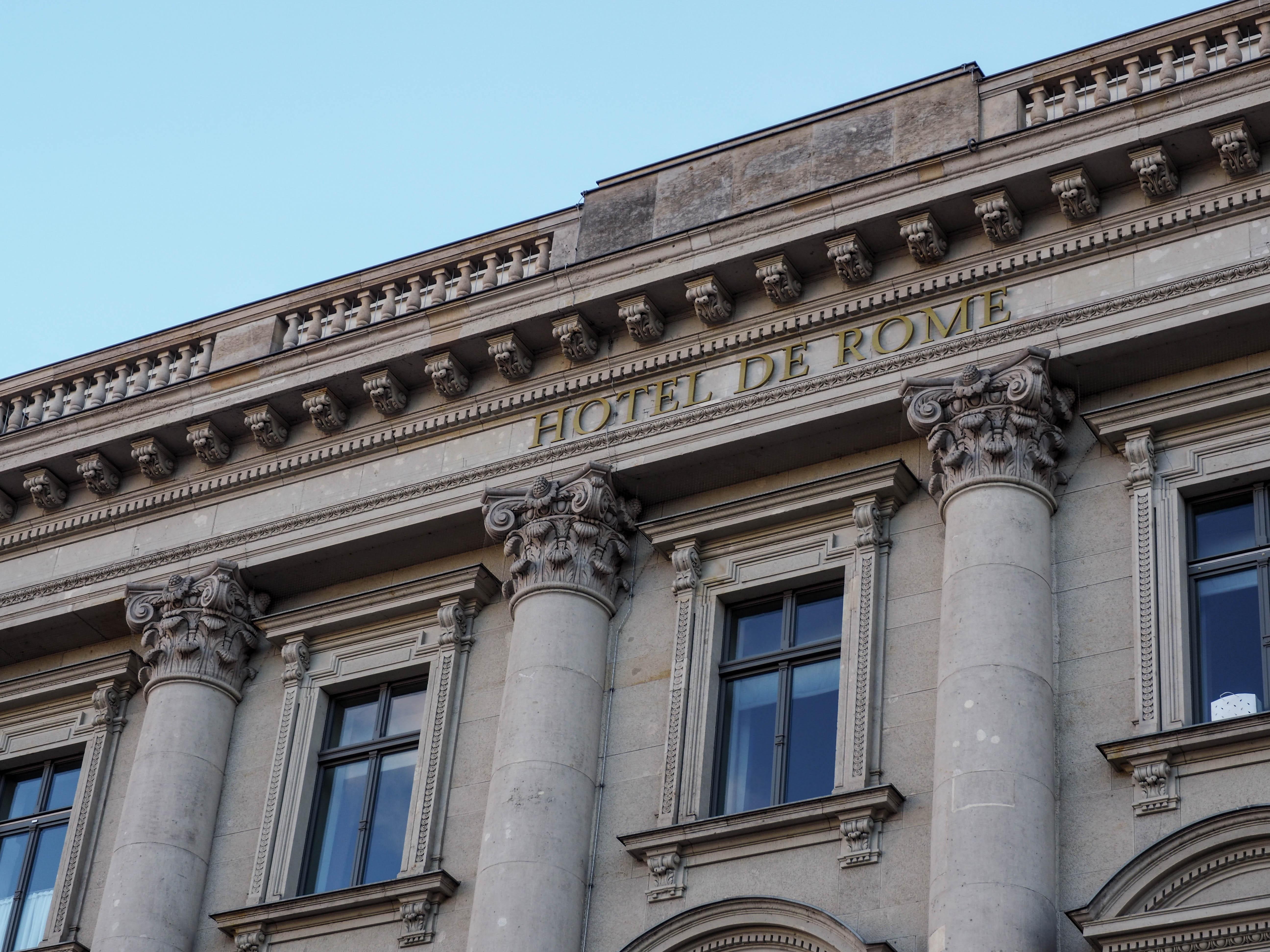 Au Enfassade ein ehemaliges bankhaus wurde zum luxushotel das hotel de rome in berlin bohème